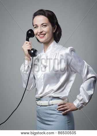 Attractive Vintage Secretary