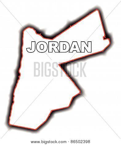 Outline Map Of Jordan
