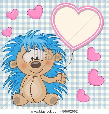 Hedgehog With Heart Frame