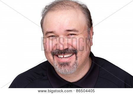 Happy Relaxed Smiling Middle-aged Man