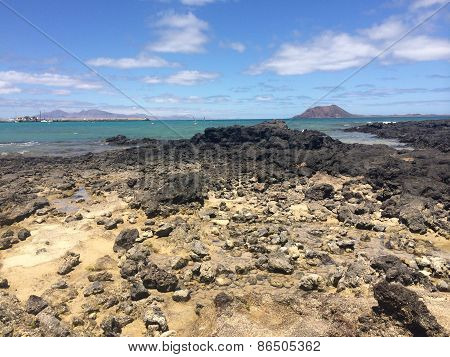 Rocky Pool on Fuerteventura, Isla de Lobos