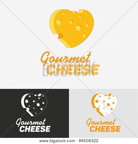Gourmet cheese logo.