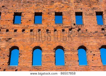 Detail of the Torri Palatine, Turin