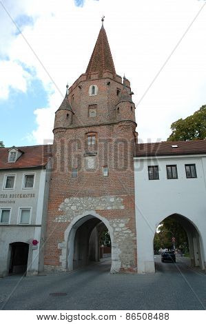 Antique Gateway In Ingolstadt In Germany