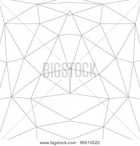 Abstract Low Poly Vector Background | Line Art