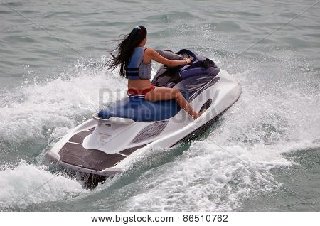 Young Lady Jet Skier
