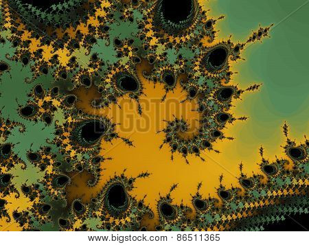 Decorative fractal wave