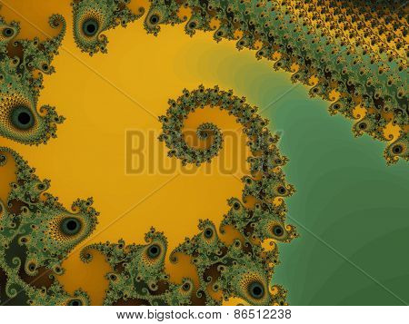Abstraction fractal spiral