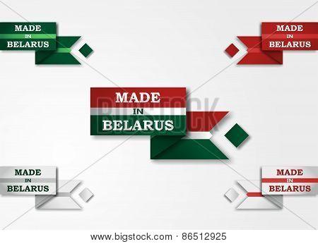 Made in Belarus set badges