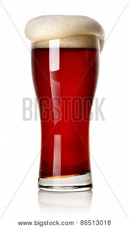 Froth on red beer