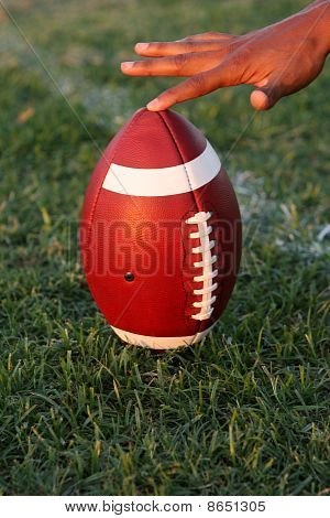 American Football Held For Kickoff