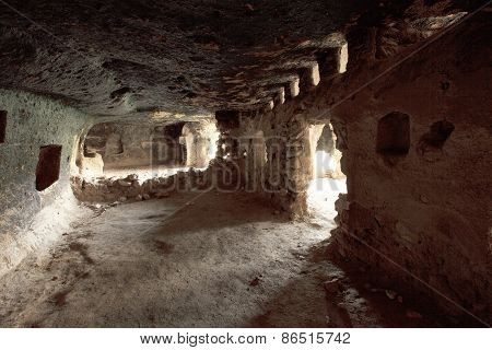 The Caves Of The Ancient City Hasankeyf, South East Of Turkey.