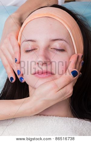 Facial massage treatment.