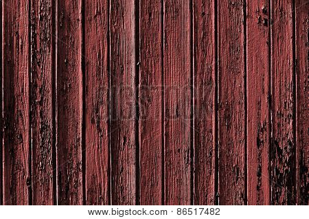 Old Marsala Colored Wooden Background