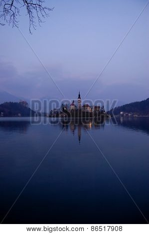 Assumption Church,on The Lake Bled, Slovenia