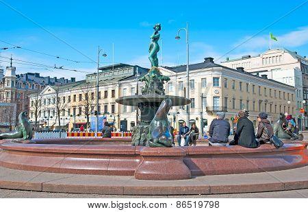 Helsinki. Finland. Havis Amanda Fountain