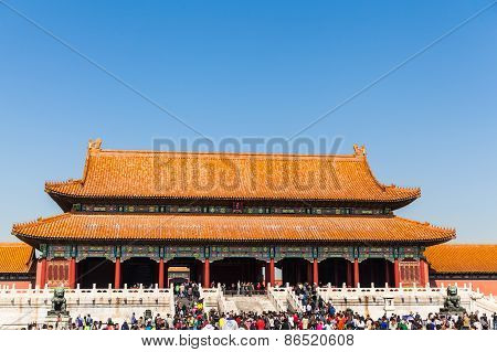 Toutists In The Forbidden City