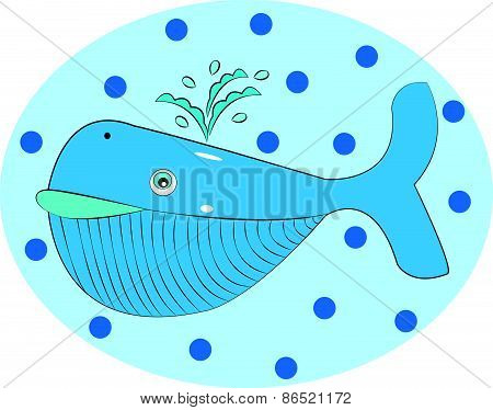 Vector illustration of a blue whale