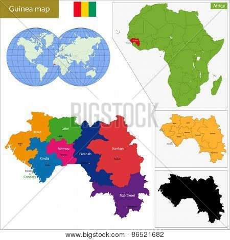 Administrative division of the Republic of Guinea