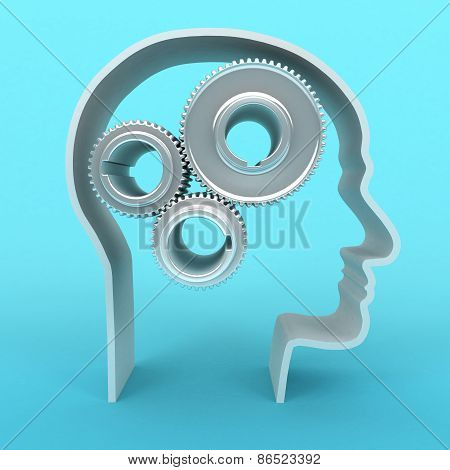 Head With Gears