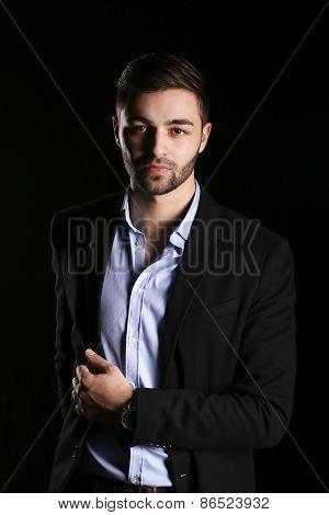 casual young fashion man model