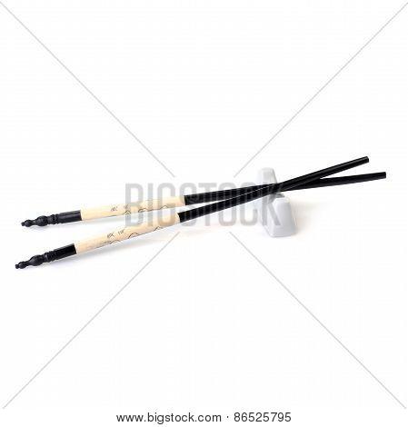Asian Chopsticsk On White
