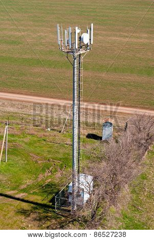 Post cellular base station, a top view