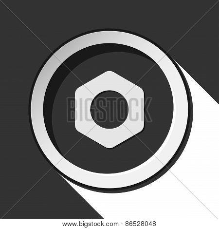 Dark Gray Icon With Nuts