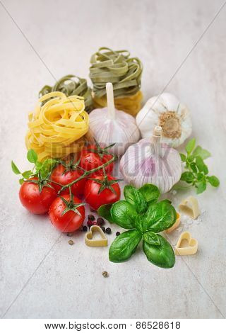 Cherry tomatoes and spices