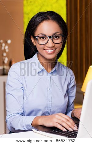 Cheerful Businesswoman.