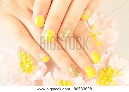 Beautiful woman's nails