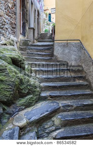 Street In Vernazza Village