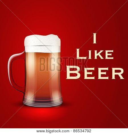 Vector Illustration I like beer