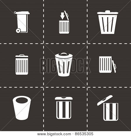 Vector trash icon set