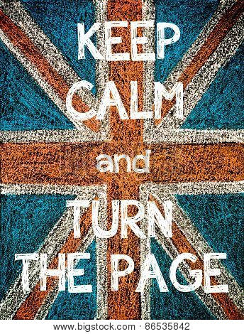 Keep Calm and Turn the Page.