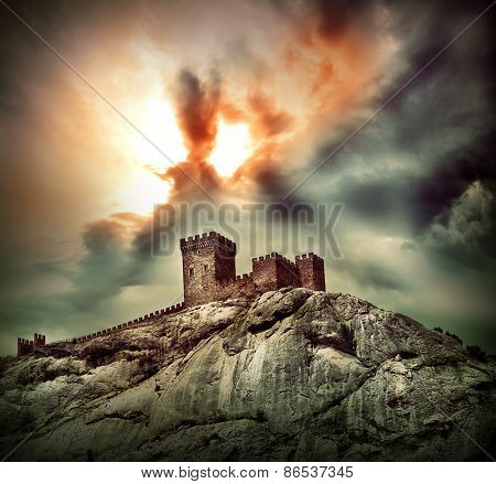 Ancient Fortress On The Hill