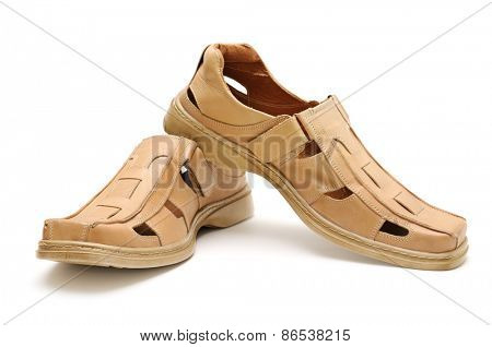 Man's shoes isolated on a white background
