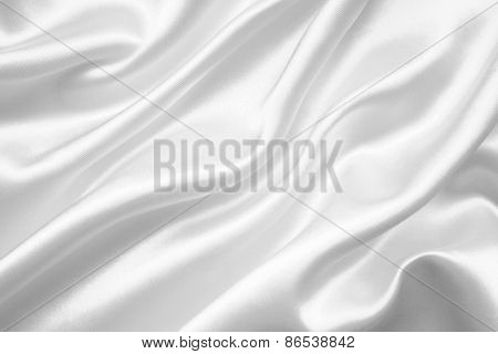 Smooth Elegant White Silk Or Satin As Wedding Background