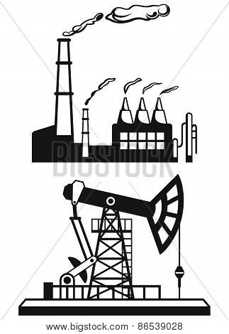 Concept of oil industry and factory