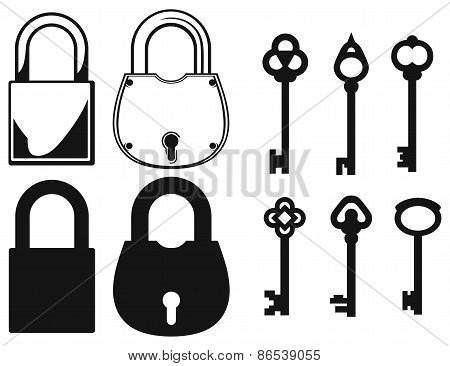 Closed locks security icon