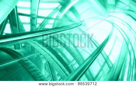 3D futuristic matrix background