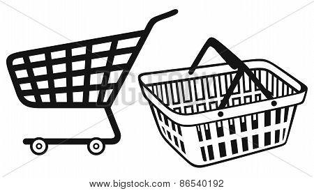 Shopping supermarket cart