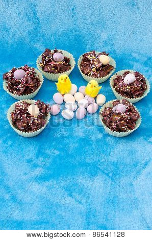 Circle Collection Of Easter Treats - Vertical