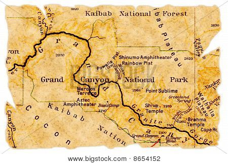 Grand Canyon Old Map