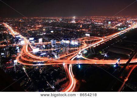 Thailand Expressway at dusk