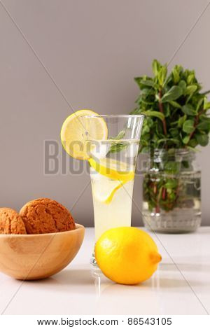 glass of homemade lemonade