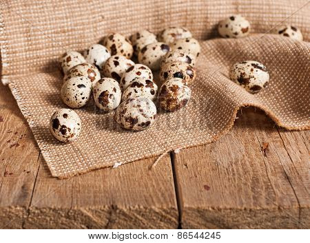 Quail Eggs On Table