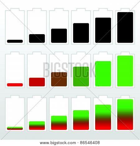 Battery Level Indicator Set