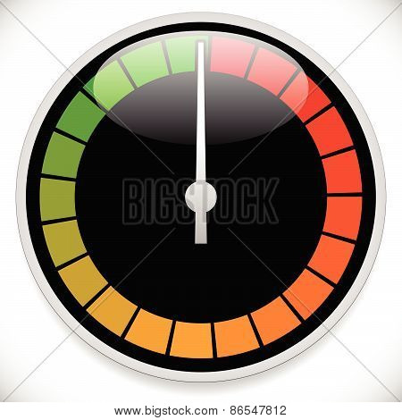 Gauge, Meter Template. Vector