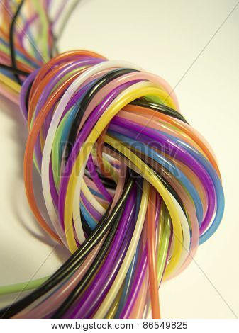 Knot Of Color Cords